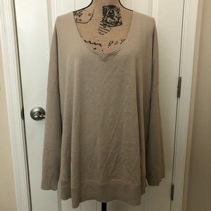 J Jill V-Neck Pullover Sweater in Cashew